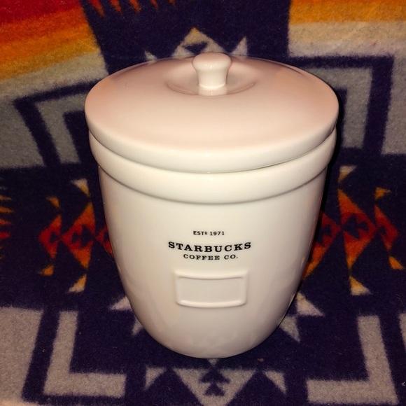 Starbucks ceramic canister 2002 barista